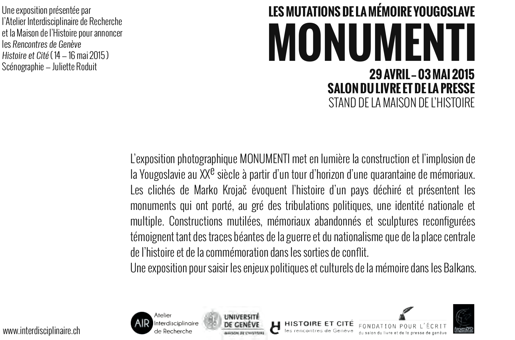 Flyer Monumenti verso