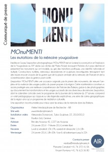 Communiquéde presse Monumenti 2014